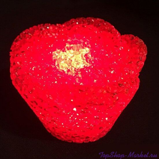 Светодиодный светильник в форме розы, 8 см