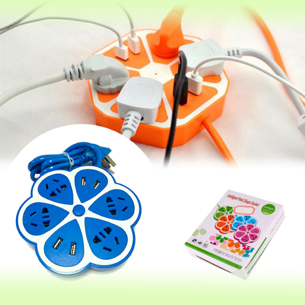 Многофункциональный сетевой USB удлинитель ЦВЕТОК