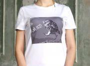 футболка с кружевами