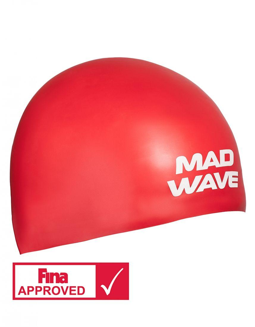 Шапочка для плавания силиконовая Mad Wave SOFT (красная)