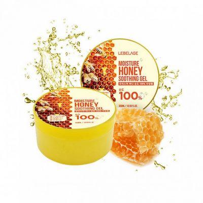 Увлажняющий успокаивающий гель с экстрактом мёда, 300мл, LEBELAGE