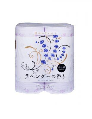 Shikoku Lavender-no-Kaori Парфюмированная туалетная бумага 4 рулона 2-х слойная