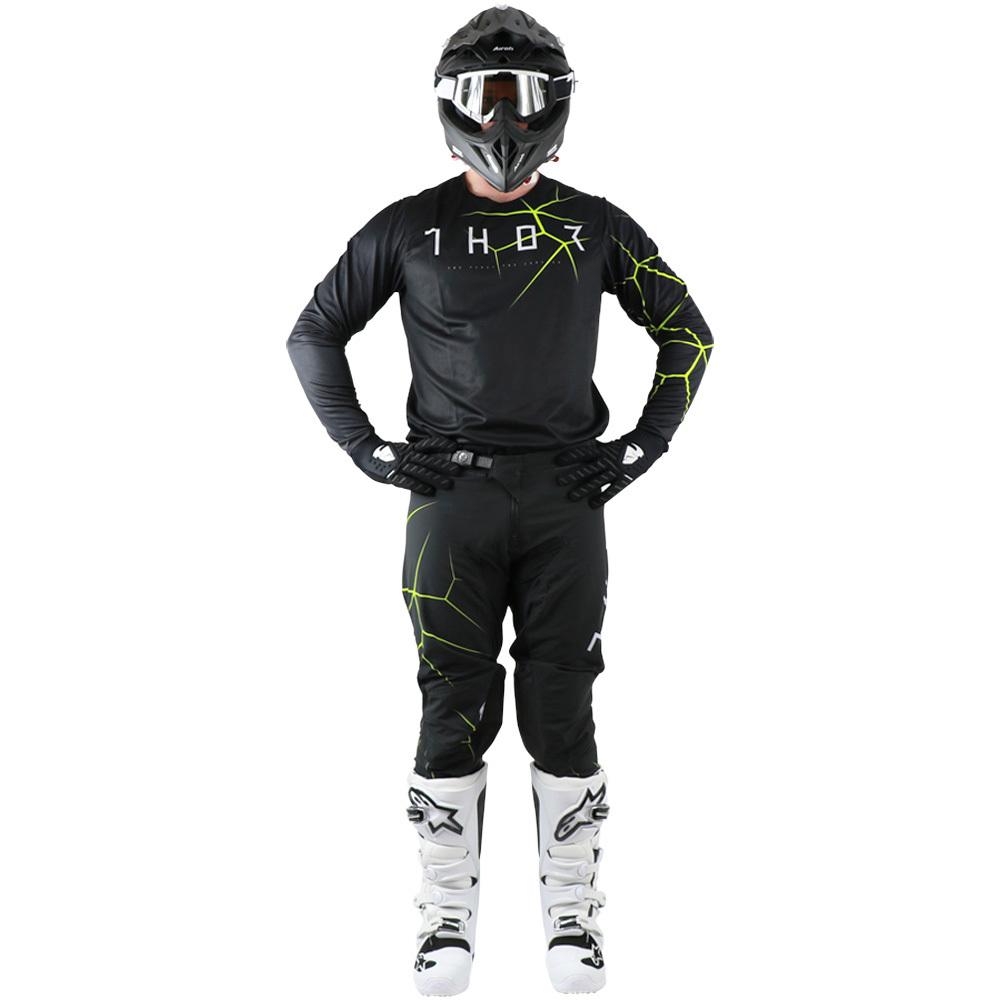 Thor - 2019 Prime Pro Infection Black/Acid комплект джерси и штаны, черно-зеленый