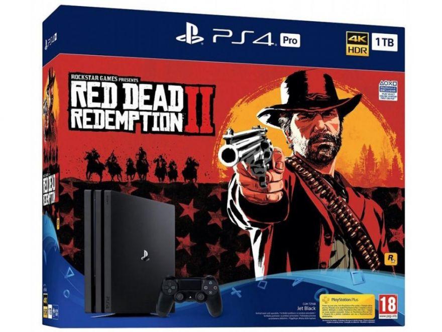 Игровая приставка Sony PlayStation 4 PRO 1TB (CUH-7216B) + Red Dead Redemption 2