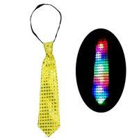 Светящийся карнавальный галстук, Цвет: Жёлтый