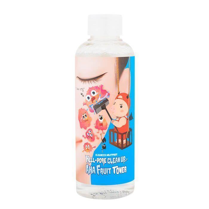 Тонер-пилинг с фруктовыми кислотами Elizavecca Hell-Pore Clean Up Aha Fruit Toner, 200 мл