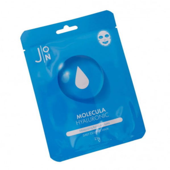 J:ON Тканевая маска д/лица ГИАЛУРОНОВАЯ КИСЛОТА  MOLECULA HYALURONIC DAILY ESSENCE MASK 23 мл
