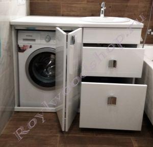 """Тумба для ванной под стиральную машину """"Глосси-1"""" однотонная"""