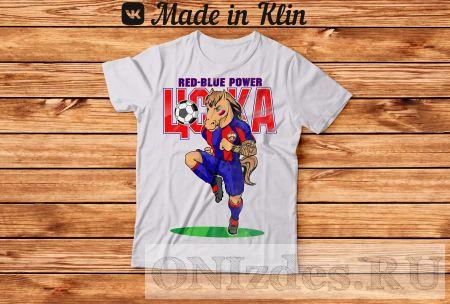 Футболка ЦСКА RED BLUE POWER