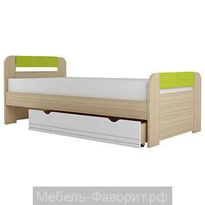 """Кровать с основанием ЛДСП """"Стиль 900.3"""" Лайм"""