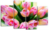 Модульная картина Букет тюльпанов купить недорого с доставкой по России.