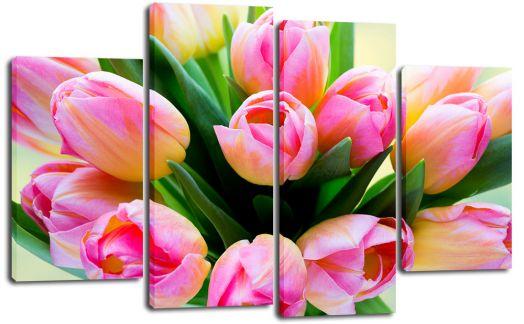 Модульная картина Букет тюльпанов