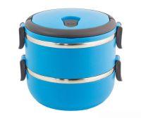 Термо ланч-бокс из нержавеющей стали, 1,4 л, Цвет: Голубой