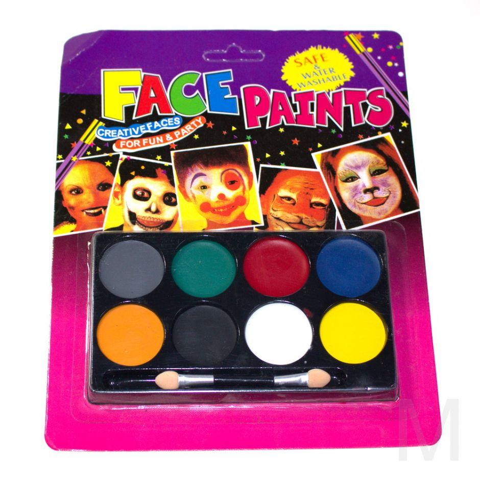 Аквагрим FACE PAINTS, 8 цветов
