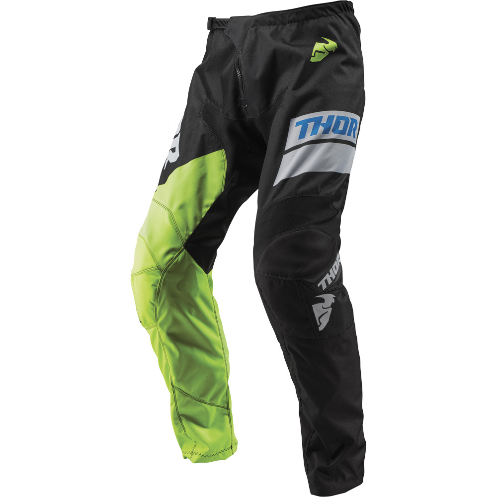 Thor - 2019 Sector Shear Black/Acid штаны, черно-зеленые