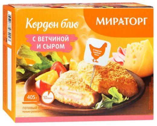 Кордон блю Мираторг с ветчиной и сыром, 405г