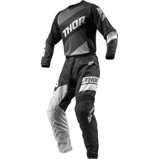 Thor - 2019 Sector Shear Black/Grey комплект джерси и штаны, черно-серый