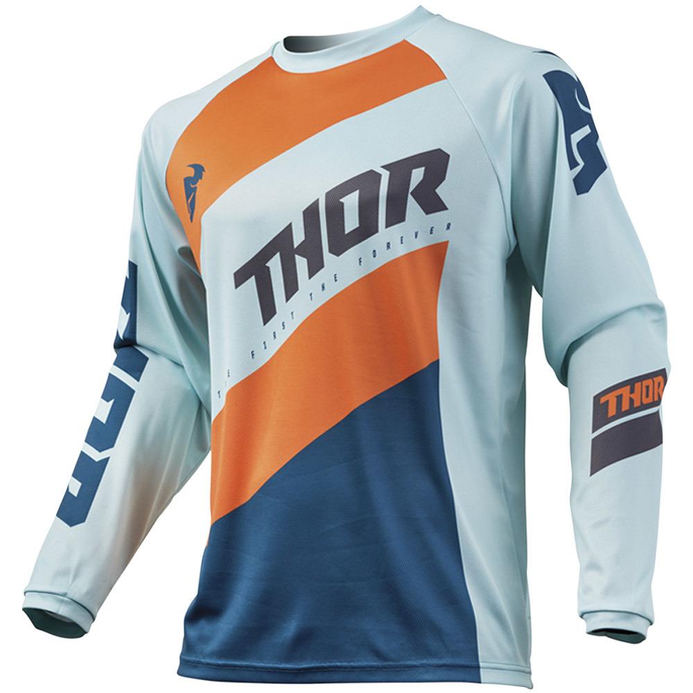 Thor - 2019 Sector Shear Sky/Slate джерси, оранжево-синее