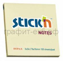 Блок кл.76х76 100л. желтый STICK'N HOPAX 21007