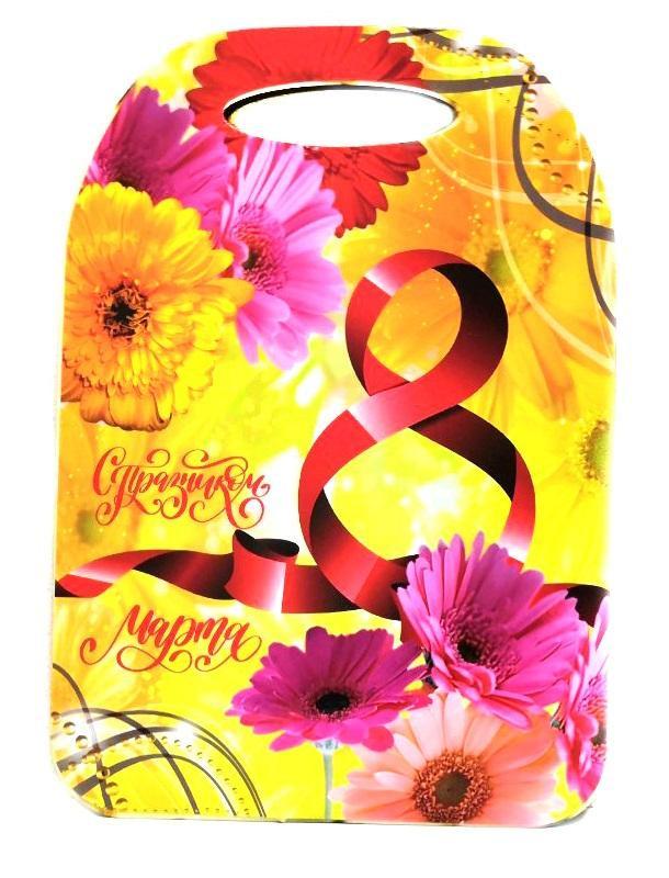 Сувенирная Разделочная Доска 8 Марта, Жёлтый С Цветами
