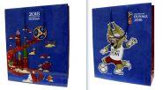 FIFA-2018 большой пакет подарочный, 34х28х9см, синий, ручка-шнурок (арт. Т11905)
