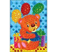 Мозаика из помпонов. формат А4. Мишка с шариками (арт. М-5233)