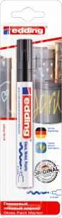 Маркер-краска лаковый глянцевый EDDING 750, 2-4 мм, круглый наконечник, алюминиевый корпус, черный, E-750/1