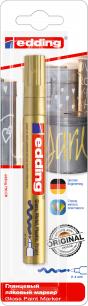 Маркер-краска лаковый глянцевый EDDING 750, 2-4 мм, круглый наконечник, алюминиевый корпус, золотой, E-750/53