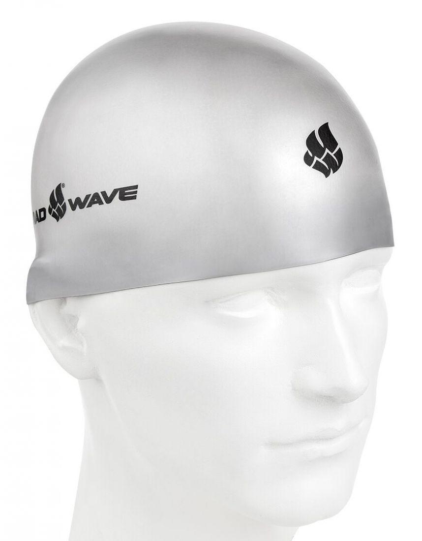 Шапочка для плавания силиконовая Mad Wave SOFT (серебро)