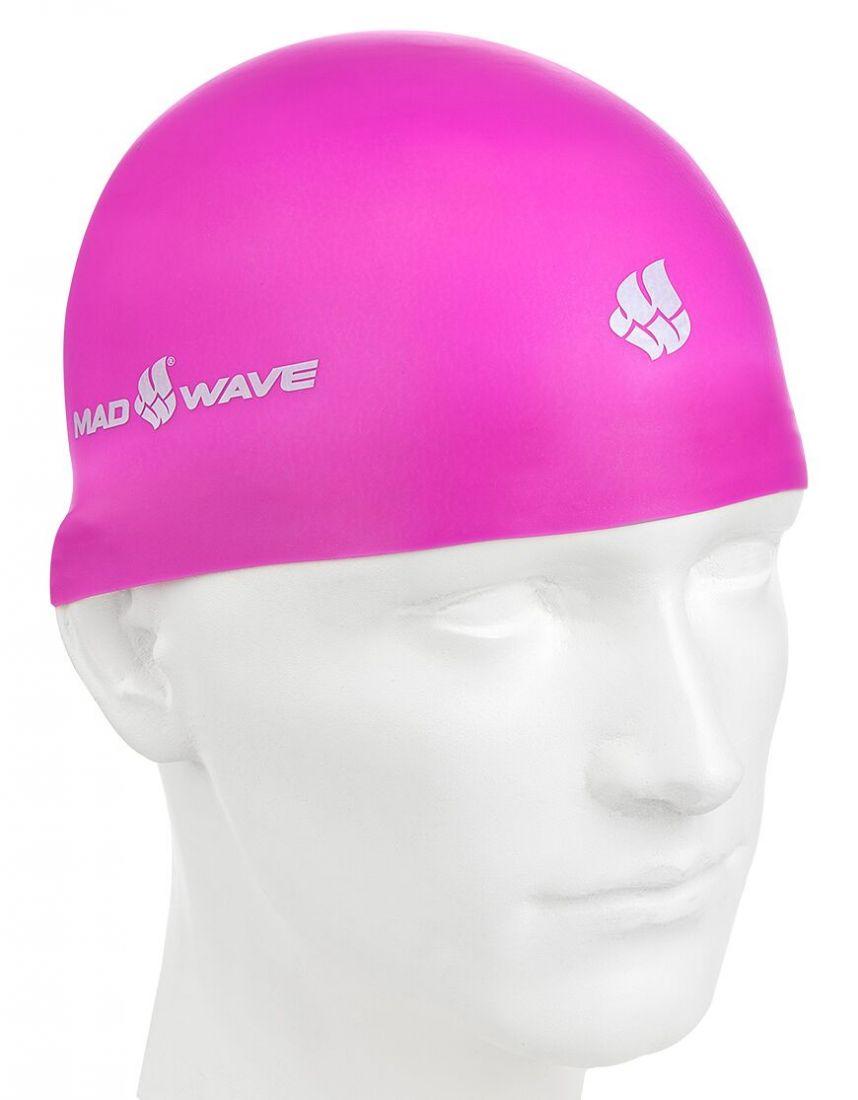 Шапочка для плавания силиконовая Mad Wave SOFT (розовая)