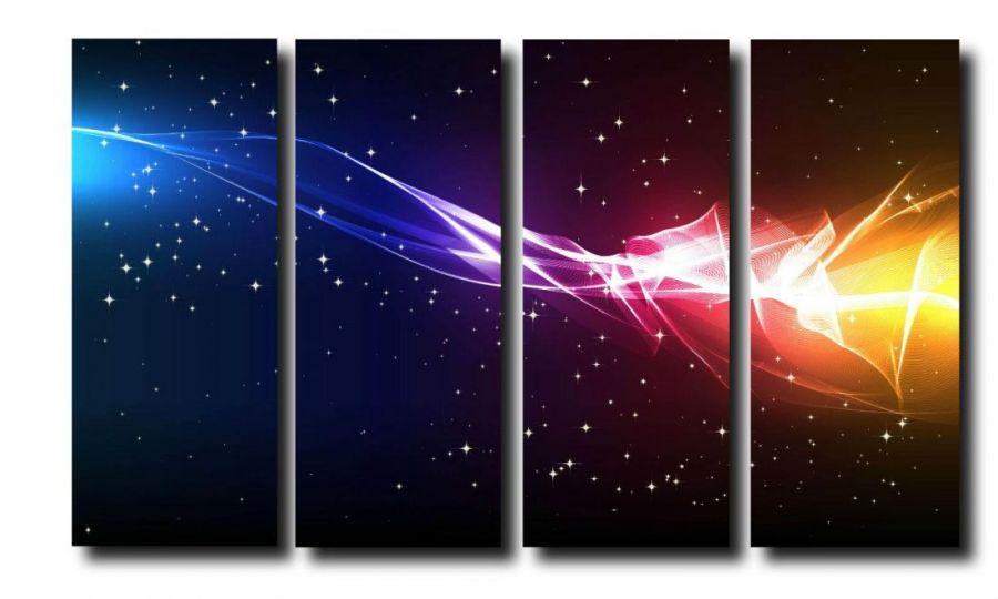 Модульная картина Цветной космос