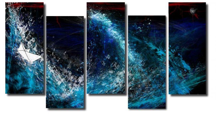 Модульная картина Абстракция волна