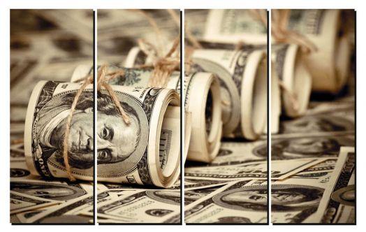 Модульная картина Доллары