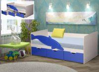 """Кровать """"Дельфин""""с ящиками + Матрас в подарок"""