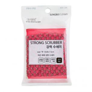"""SB"" STRONG SCRUBBER 1PC Скруббер для мытья посуды ( 13 х 9  х 1,5)  1шт"