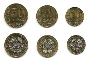 Набор монет Таджикистан 2018 (3 монеты)