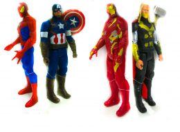 """Набор из 4 х героев """"Мстители"""" (Железный человек, Капитан Америка, Человек паук, и Тор)"""