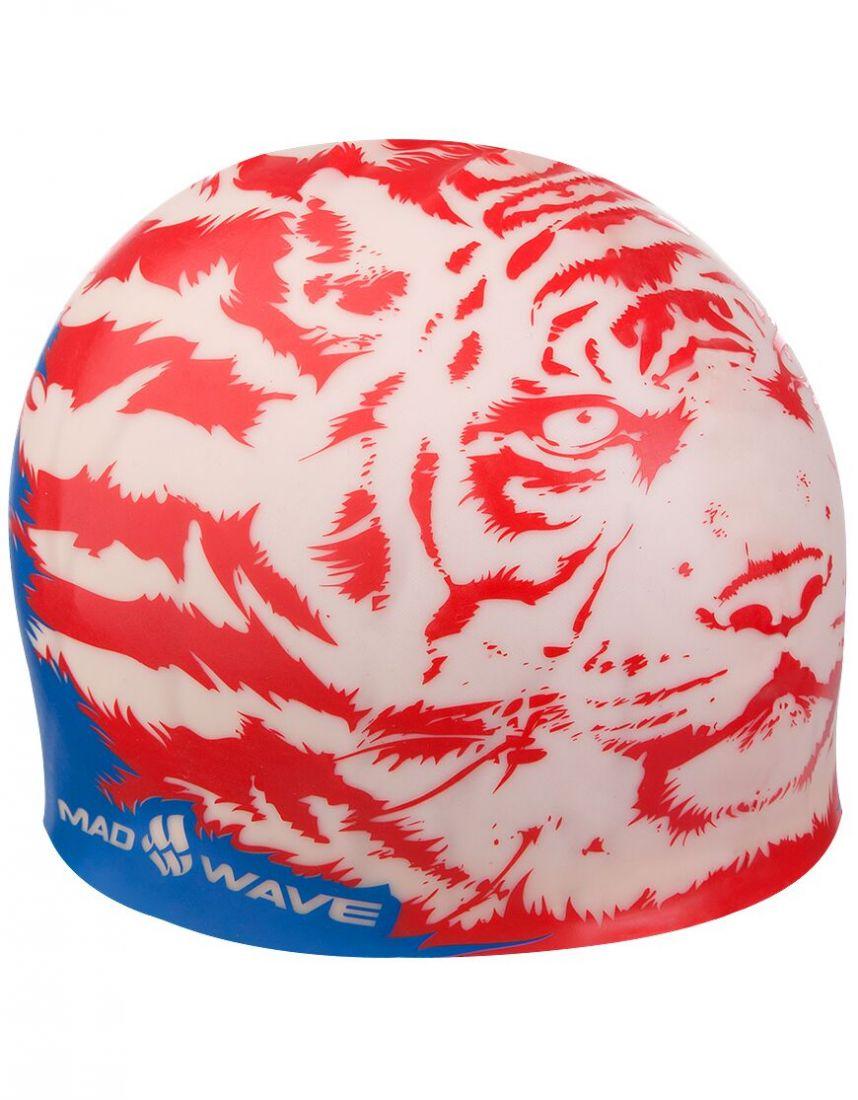 Шапочка для плавания силиконовая Mad Wave MALAYSIA