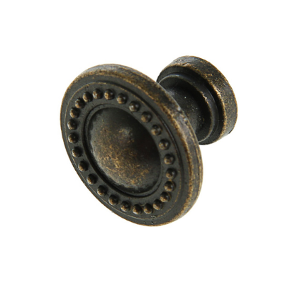 Ручка-кнопка Винтаж №003, цвет бронза, 2,5 см