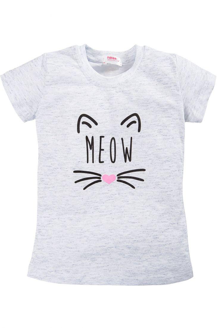 Футболка светло-серая Meow