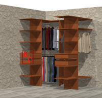 Дизайн встроенной недорогой гардеробной.