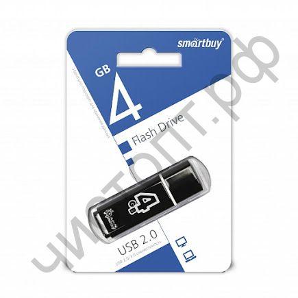 флэш-карта Smartbuy 4GB Glossy series Black черный
