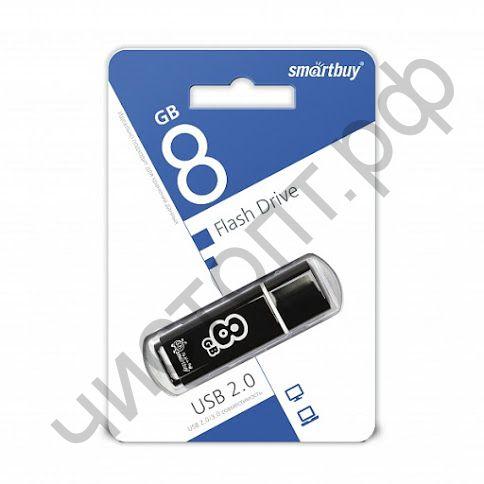 флэш-карта Smartbuy 8GB Glossy series Black черный
