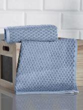 Полотенце махровое жаккард  DAMA  40*60 см. (голубое)   Арт.3168-4