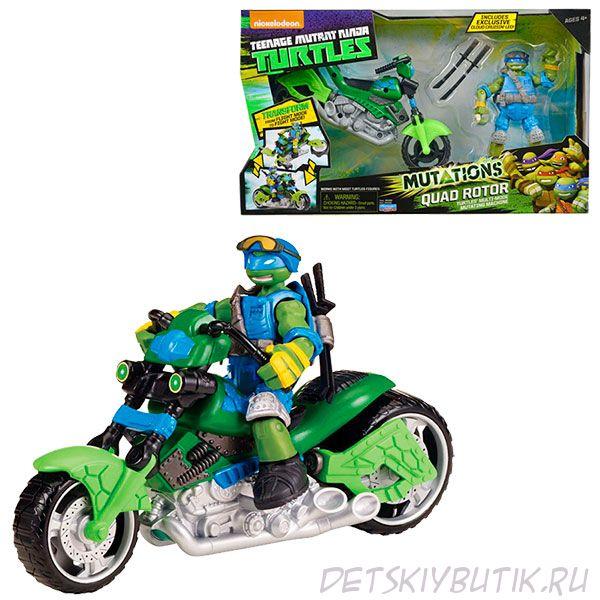 Мотоцикл-квадрокоптер с фигуркой Лео, серия Mutation
