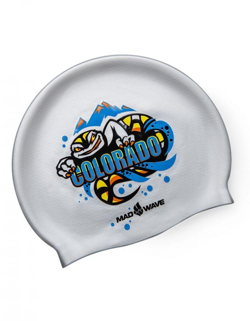 Шапочка для плавания силиконовая Mad Wave COLORADO
