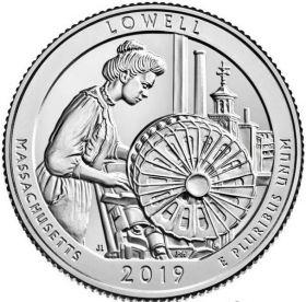 46 ПАРК США - 25 центов 2019 год, Национальные парк Лоуэлл (Lowell)