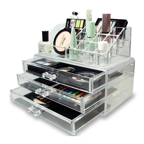 Акриловый органайзер для косметики Cosmetic Storage Box,3 ящика