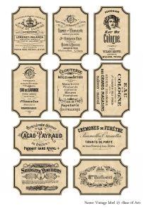 Vintage label 13