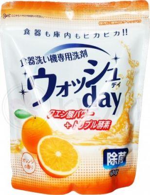 Nihon Detergent Средство для мытья посуды в посудомоечной машине (порошковое, с ароматом апельсина), 600 гр.